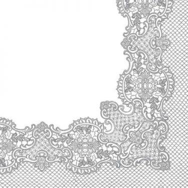 Dekorszalvéta - Royal Lace (silver)