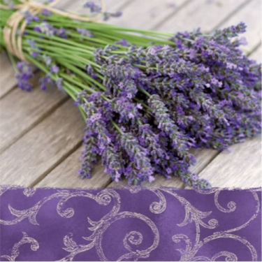 Dekorszalvéta - Lavender in the Country