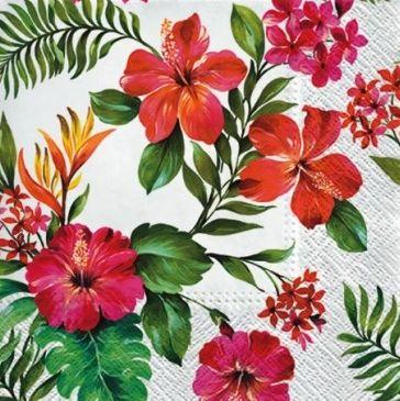 Dekorszalvéta - Hawaiian Flowers