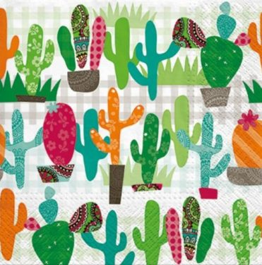 Dekorszalvéta - Cactus Garden
