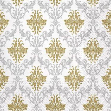 Dekorszalvéta - Royal Ornament Silver