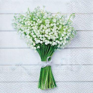 Dekorszalvéta - White Bouquet