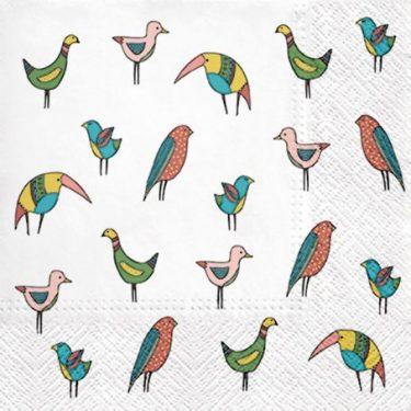 Dekorszalvéta - Bird Friends