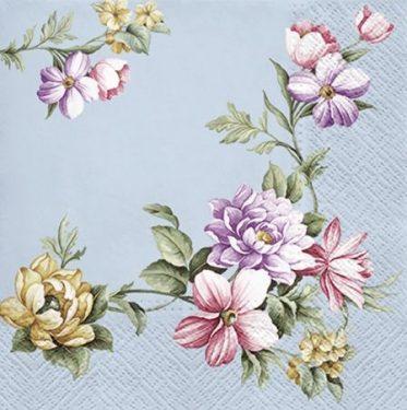 Dekorszalvéta - Elegant Garland Blue