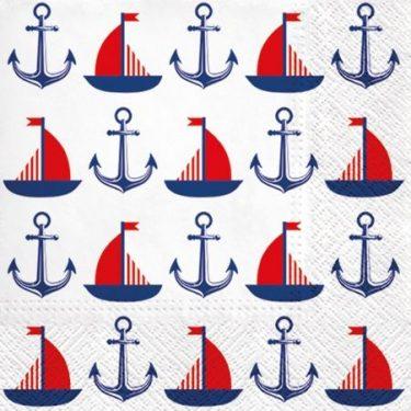 Dekorszalvéta - Ships & Anchors