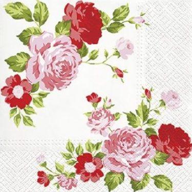 Dekorszalvéta - Roses Composition