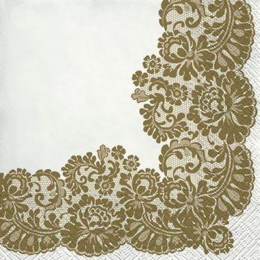Dekorszalvéta - Lacy Frame Gold