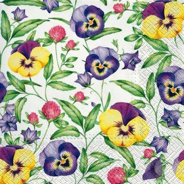 Dekorszalvéta - Beautiful Pansies