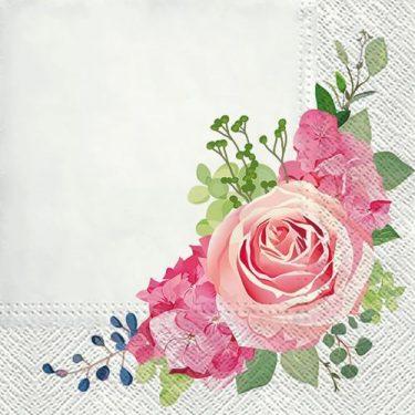 Dekorszalvéta - Nostalgic Rose