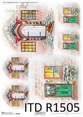Karácsonyi rizspapír - ITD R1505