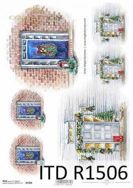 Karácsonyi rizspapír - ITD R1506