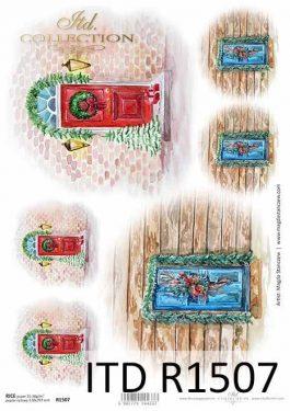 Karácsonyi rizspapír - ITD R1507