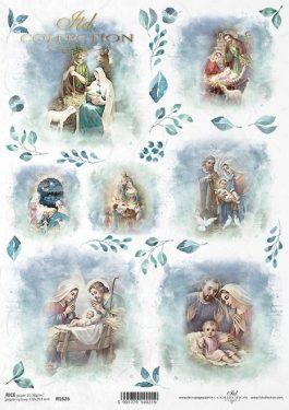 Karácsonyi rizspapír - ITD R1626