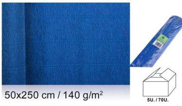 MP Vastag krepp-papír Kék 50x250 cm