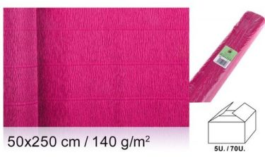 MP Vastag krepp-papír Fukszia 50x250 cm