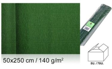 MP Vastag krepp-papír Sötétzöld 50x250 cm