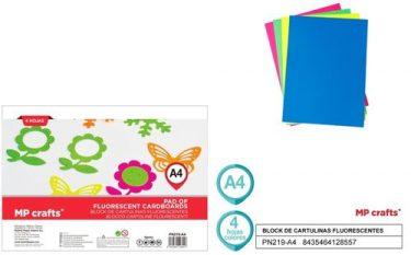 MP Fluoreszkáló kartonpapír A4 4 db/cs