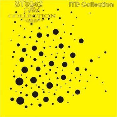 ITD Stencil Buborékok 16x16 cm