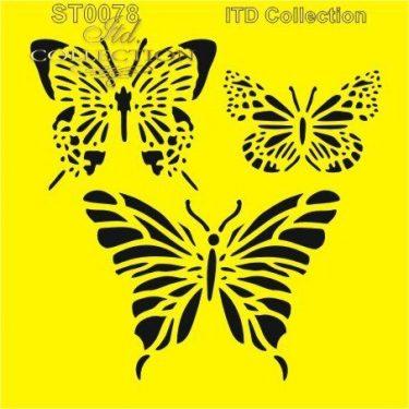 ITD Stencil Pillangók 16x16 cm