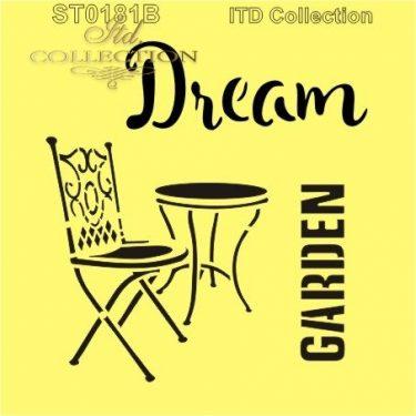 ITD Stencil Dream Garden 16x16 cm