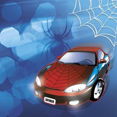 Dekorszalvéta - Spider Car