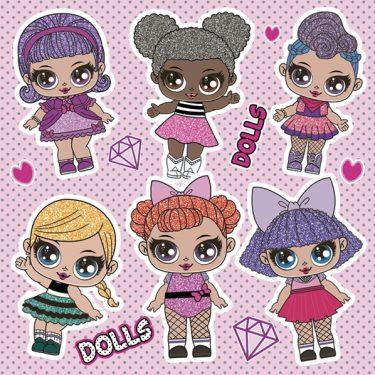 Dekorszalvéta - Cool Dolls
