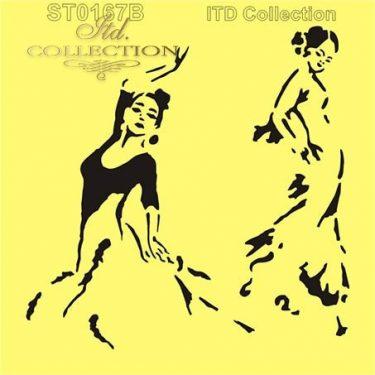 ITD Stencil Táncosnő 16x16 cm