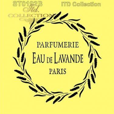 ITD Stencil Eau de Lavande Paris 16x16 cm