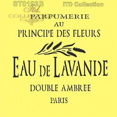 ITD Stencil Eau de Lavande 16x16 cm
